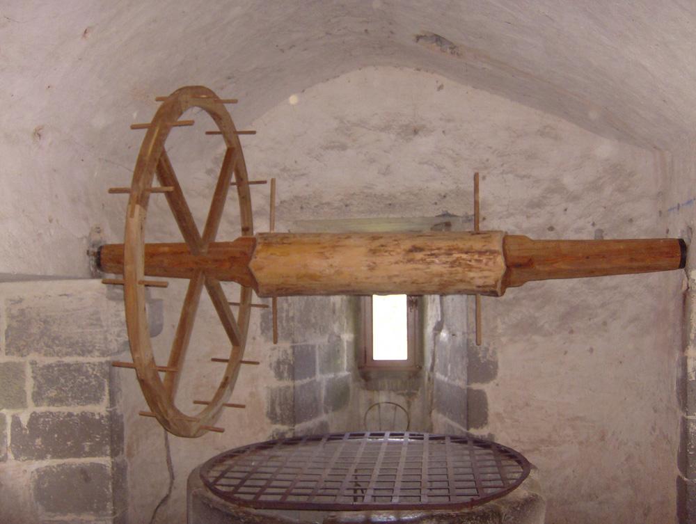 roue de puits après